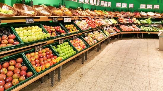 Innenansicht Obst-und Gemüseladen